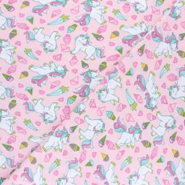 Tissu jersey Poppy Unicorn and Icecreams - Rose x 10cm