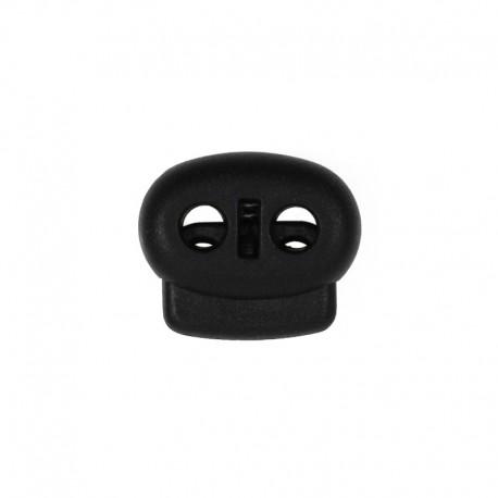 Oval bean cord locker - black