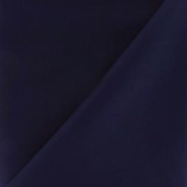 Tissu Gabardine Lycra satiné bleu nuit x 10cm