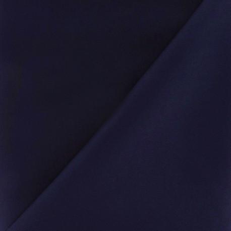Satiny Lycra Gabardine Fabric - Night Blue x 10cm