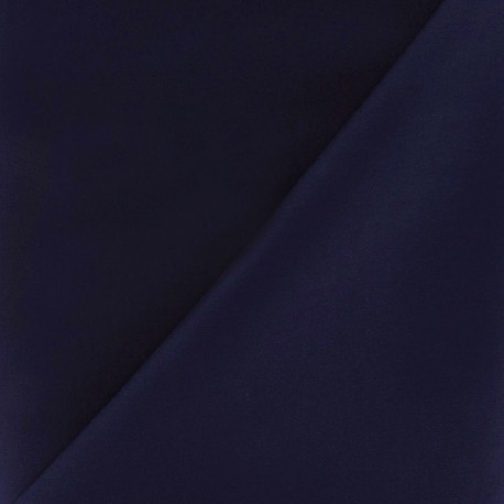 Tissu Gabardine Lycra bleu nuit x 10cm