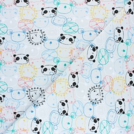 Poppy Jersey fabric - Grey Get Together x 10cm