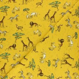 Tissu jersey Safari - Jaune x 10cm