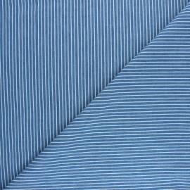 Tissu Jeans fluide rayé Saint-Raphaël - bleu x 10cm