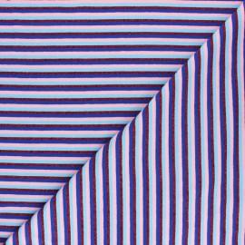 Tissu jersey rayures lurex - Bleu - MPM