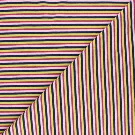 Tissu jersey rayures lurex - Jaune x 10cm
