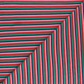 Tissu jersey rayures lurex - Multicolore x 10cm