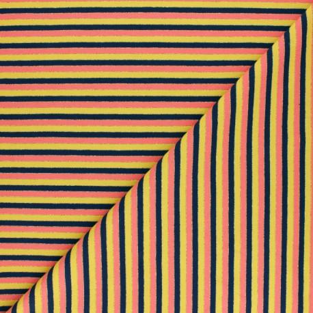 Jersey fabric - Multicolour lurex stripes x 10cm