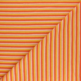Striped Jersey fabric - Orange lurex Coney - MPM