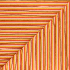 Tissu jersey rayures lurex Coney - Orange x 10cm