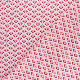 Poppy poplin cotton fabric - white Joyfully x 10cm
