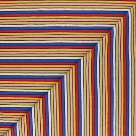 Tissu jersey rayé Arlequin - Noir x 10cm