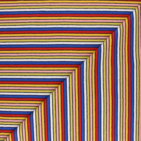 Striped jersey fabric - Black Arlequin x 10cm