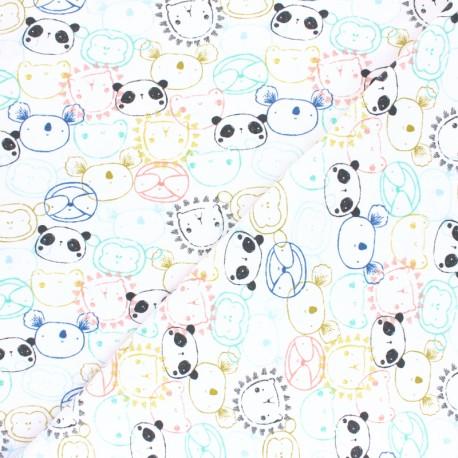 Tissu jersey Poppy Get Together - Blanc x 10cm