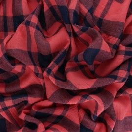 Woven Viscose Fabric - Strawberry Red Tilly x 10cm