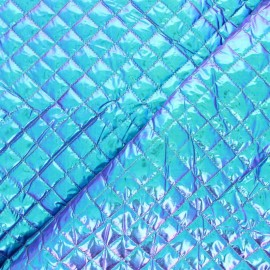 Single-sided Quilted metallic fabric - orange Wonka x 10cm