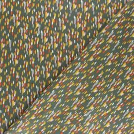 Tissu coton popeline Poppy Color Festival - Vert kaki x 10cm