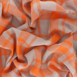 Woven Viscose Fabric - Orange Tilly x 10cm