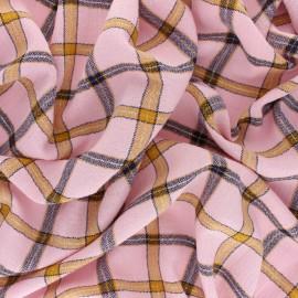 Tissu coton froissé lurex Orla - Eau de Rose x 10cm