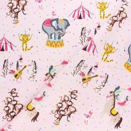 Tissu coton popeline Poppy Magic Circus - rose x 10cm