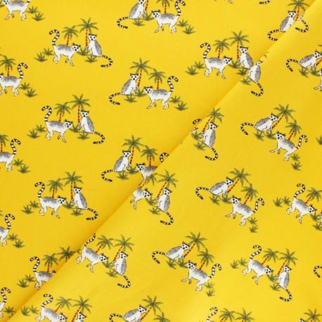 Poppy poplin cotton fabric - mustard yellow Catch the coconut x 10cm