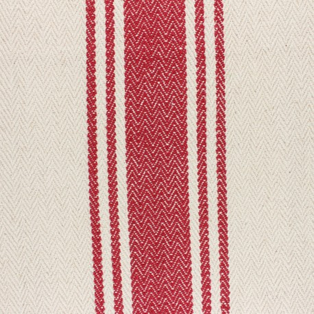 Woven Cotton Fabric - Harry red