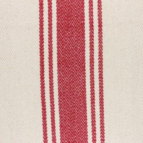 Tissu coton tissé Harry rouge