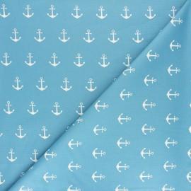 Tissu coton Popeline Poppy Anchor Party - gris x 10cm