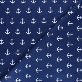 Plissé bordure picot bordure-baby blue-tissu de coton