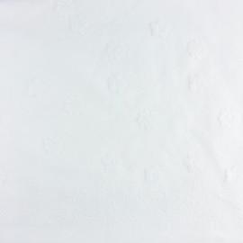 Tissu lin viscose brodé Sidonie - blanc x 10 cm