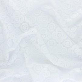 Tissu Dentelle élasthanne Adelaïde - blanc optique x 10cm