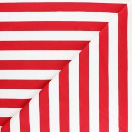 Tissu Sweat léger rayé Honfleur - rouge x 10cm