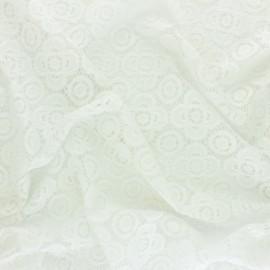 Tissu Dentelle élasthanne Adelaïde - écru x 10cm