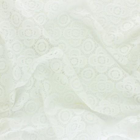 Elastane Lace Fabric - raw Adelaïde x 10cm