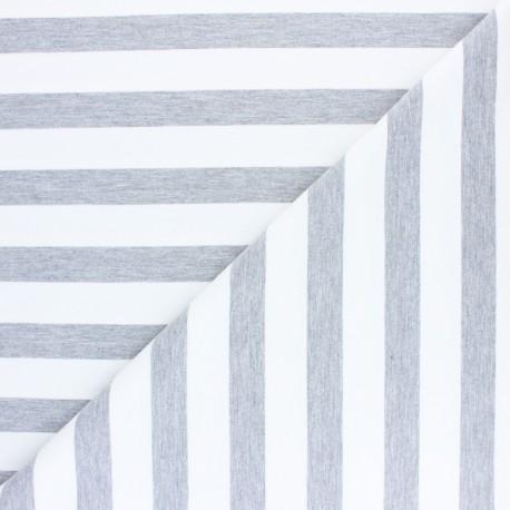 Tissu Sweat léger rayé Honfleur - noir x 10cm
