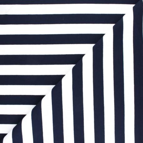 Tissu Sweat léger rayé Honfleur - marine x 10cm