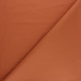 Matte Special rain waterproof fabric - Rust red x 10cm