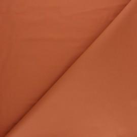 Tissu enduit spécial ciré uni mat - Rouille x 10cm