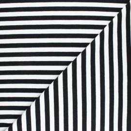 Tissu Sweat léger rayé Dinard - gris x 10cm
