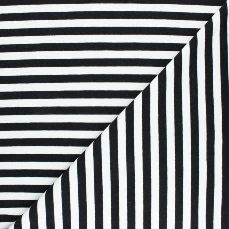 Striped French terry fabric - grey Dinard x 10cm