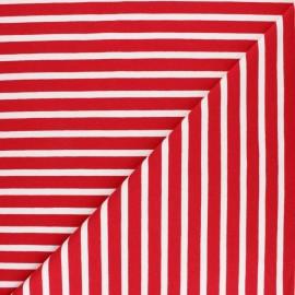 Tissu Sweat léger rayé Noirmoutier - marine x 10cm