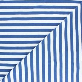 Striped Cotton Jersey fabric - rust red Lacanau x 10cm