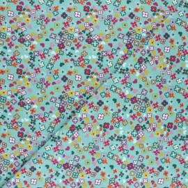 Dotted Cotton Jersey fabric - eucalyptus green x 10cm