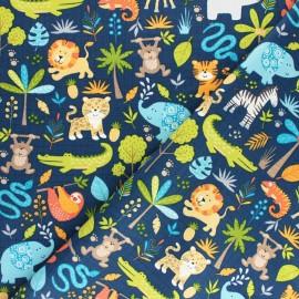 Makower UK Fabric - Raw Jungle Friends x 10cm