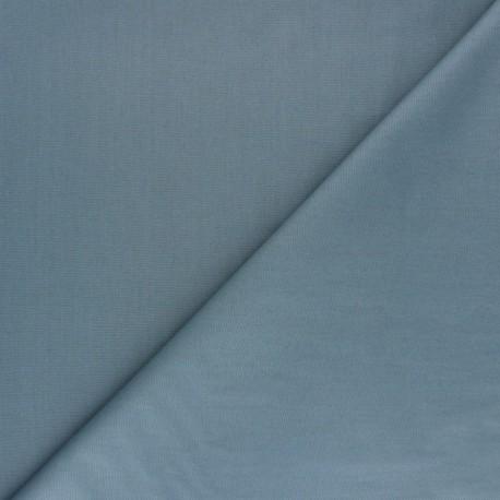 Tissu Popeline de coton uni Nébulia - Bleu x 10cm
