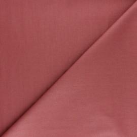Tissu Popeline de coton uni Nébulia - Brique x 10cm