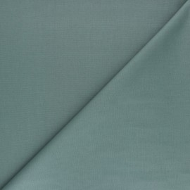 Tissu Popeline de coton uni Nébulia - Vert x 10cm
