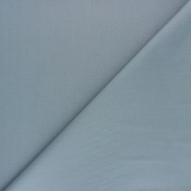 Tissu Popeline de coton uni Nébulia - Gris x 10cm