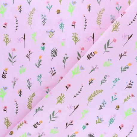 Rico Design double Gauze cotton fabric - Green Bunnies x 10cm