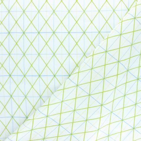 Rico Design double Gauze cotton fabric - Pink Millefleurs x 10cm